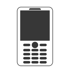 Cellphone with buttons icon vector
