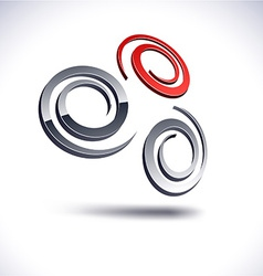 Abstract 3d spiral icon vector
