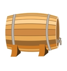 Barrel of wine icon in cartoon style isolated on vector