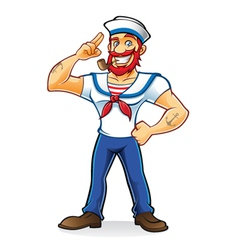 Beard Sailor vector image