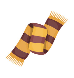 beautiful two-tone scarfscarf with her ropes on vector image vector image