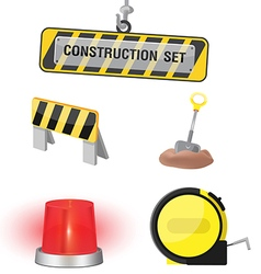 Construction Symbol Icon Object Set B vector image vector image