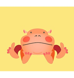 Cute kawaii animalistic cartoon character EPS 10 vector image