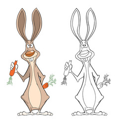 cute rabbit cartoon character vector image