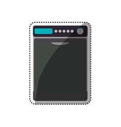dryer machine household appliance vector image