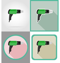 electric repair tools flat icons 04 vector image