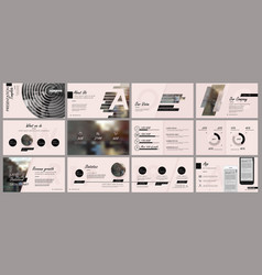 Elements for presentation templates vector