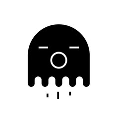 ghost icon black sign on vector image