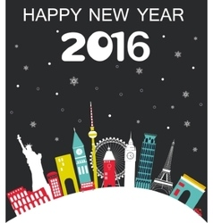 Happy New Year Travel Background vector image vector image