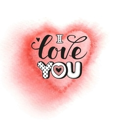 I love you calligraphic lettering vector