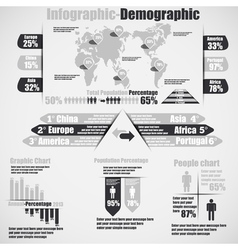 INFOGRAPHIC DEMOGRAPHIC NEW STYLE 10 GREY vector image vector image