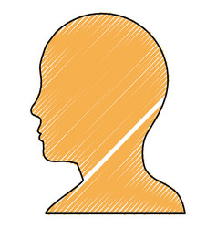 Male head silhouette vector