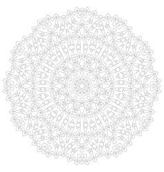 Mandala circular intricate pattern lace circle vector