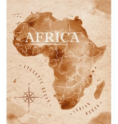 Map africa retro vector