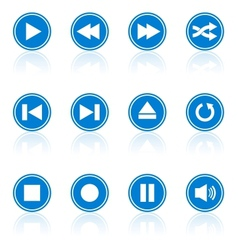 Media player buttons collection design elements vector