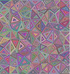 Multicolored chaotic triangle mosaic background vector image