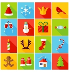 New year colorful icons vector