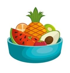Nutrition healthy food icon vector