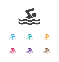 of lifestyle symbol on pool vector image