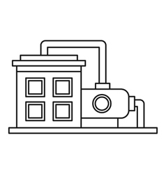 Oil refinery plant icon outline style vector image
