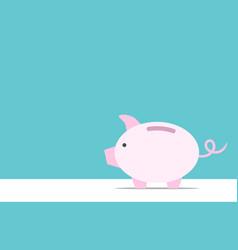 Piggy bank copy space vector
