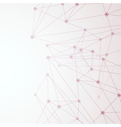 Red Net connection background template vector image