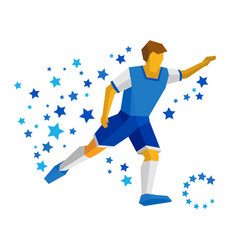 Running football player with ball vector
