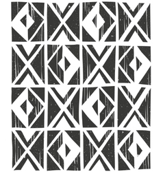 Seamless geometric pattern hand drawn vector