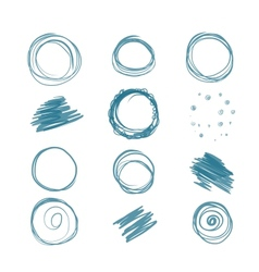 Set of scribbles for your design vector image
