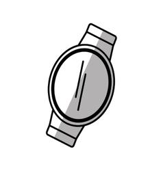 Smart watch wearable gadget shadow vector