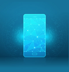 smartphone of a starry sky or space vector image vector image