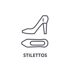 stilettos line icon outline sign linear symbol vector image vector image
