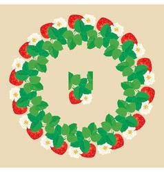 strawberry circle 2 380 vector image vector image