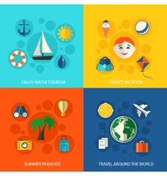 Summer travel vacation concept vector image