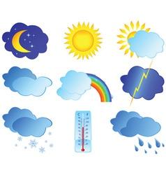 weather elements vector image vector image