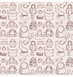 Women handbags Seamless pattern vector image vector image