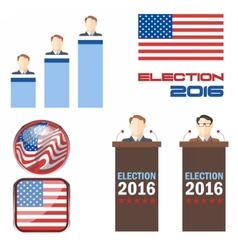 Digital election 2016 icon set vector image