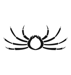 Japanese spider crab icon simple style vector