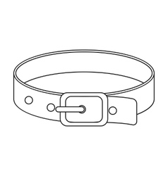 Pet collar icon of for web and vector