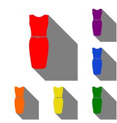 dress sign set of red orange vector image