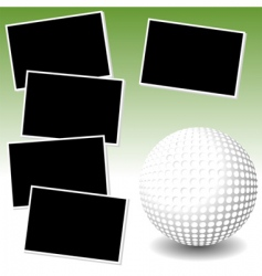 Golf photo adventure vector
