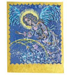 Tarot card - guardian angel vector