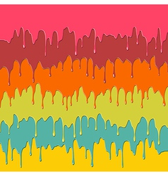 Colorful dripping paint vector