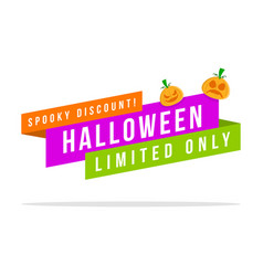 Halloween sale price label collection vector