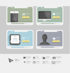 Web design graphic elements vector image