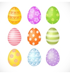 Set of colored easter eggs vector