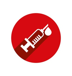 Syringe icon isolated vector