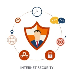 Secure online shopping and internet security vector