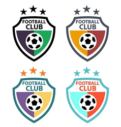 Set of badges and labels soccer football club vector