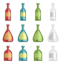 Ollection of alcohol bottles vector